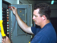 Electrical panel work performed by staff